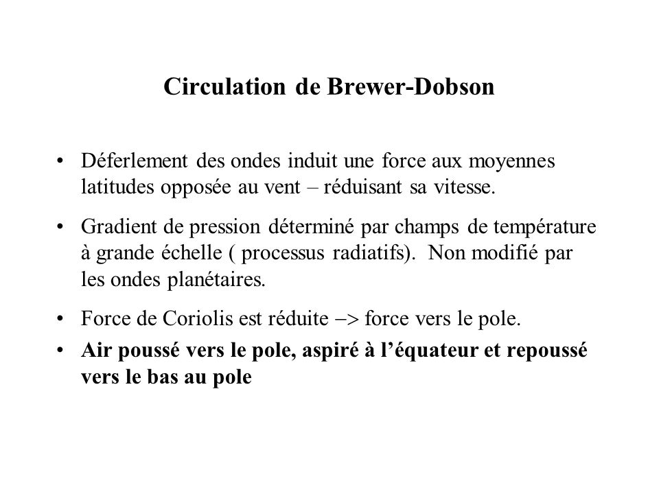 Circulation de Brewer-Dobson