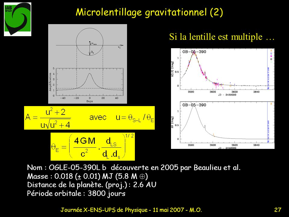 Microlentillage gravitationnel (2)