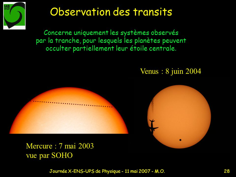 Observation des transits