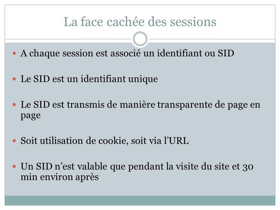La face cachée des sessions