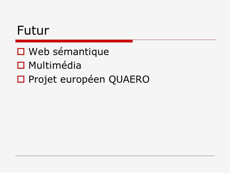 Futur Web sémantique Multimédia Projet européen QUAERO