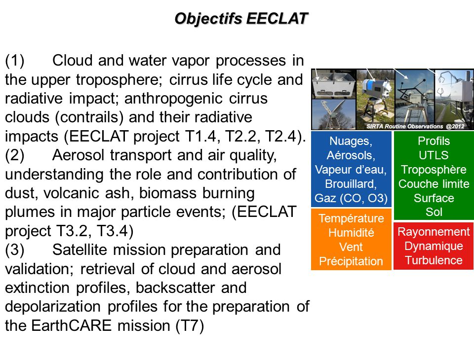 Objectifs EECLAT