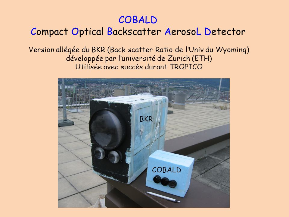 COBALD Compact Optical Backscatter AerosoL Detector