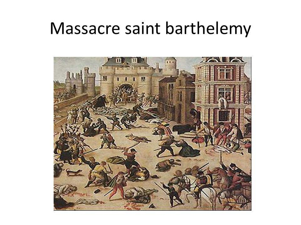 Massacre saint barthelemy