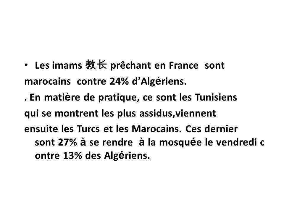 Les imams 教长 prêchant en France sont