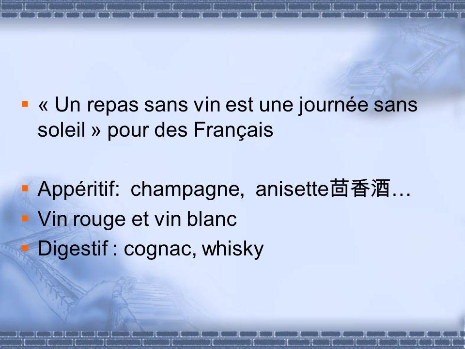 « Un repas sans vin est une journée sans soleil » pour des Français