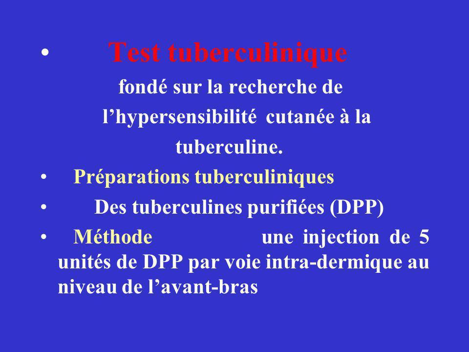 Test tuberculinique fondé sur la recherche de