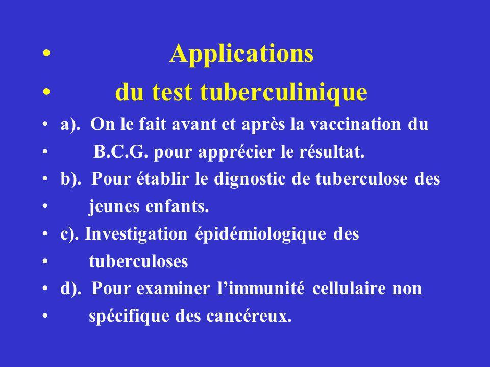 du test tuberculinique