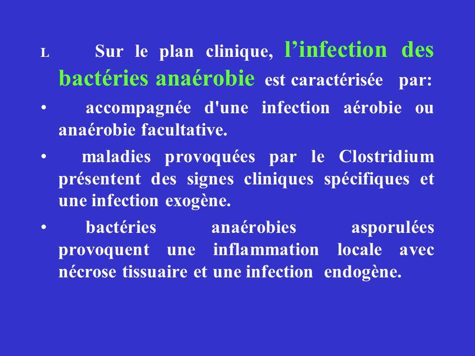 accompagnée d une infection aérobie ou anaérobie facultative.