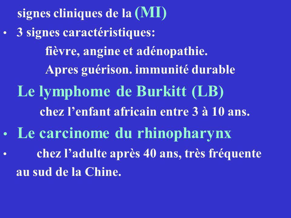 fièvre, angine et adénopathie. Apres guérison. immunité durable