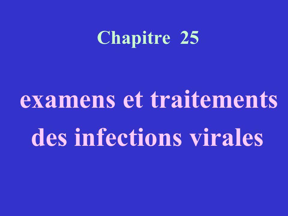 examens et traitements des infections virales