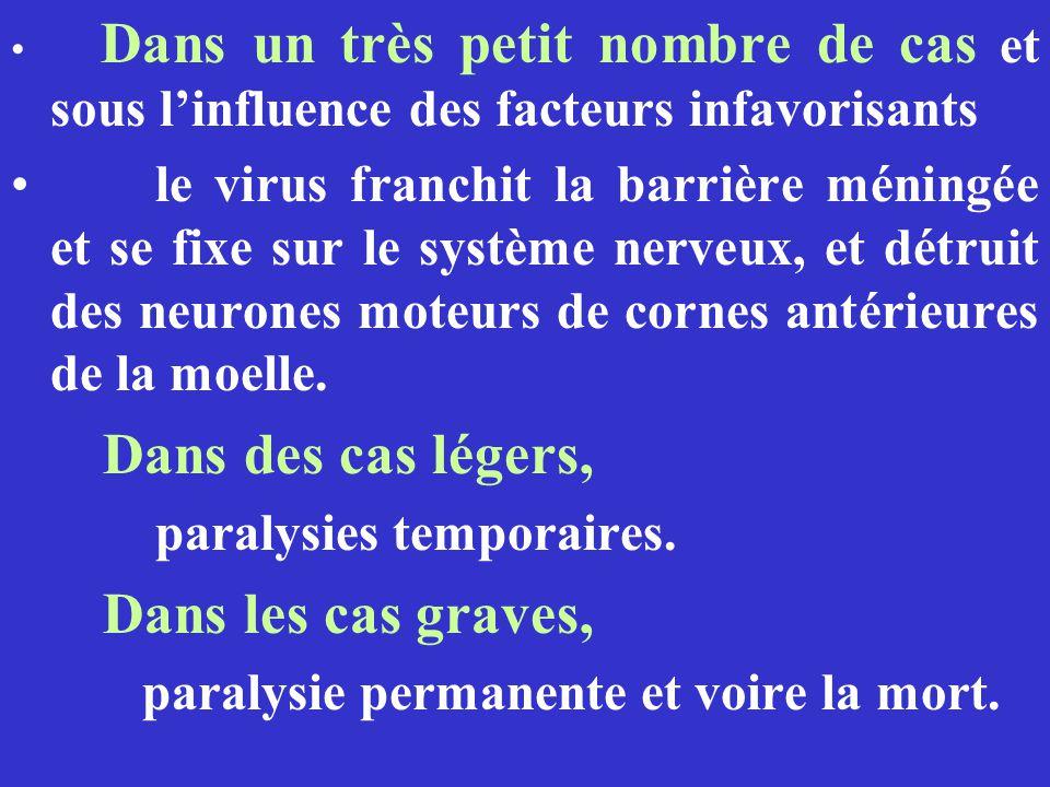 paralysies temporaires. Dans les cas graves,