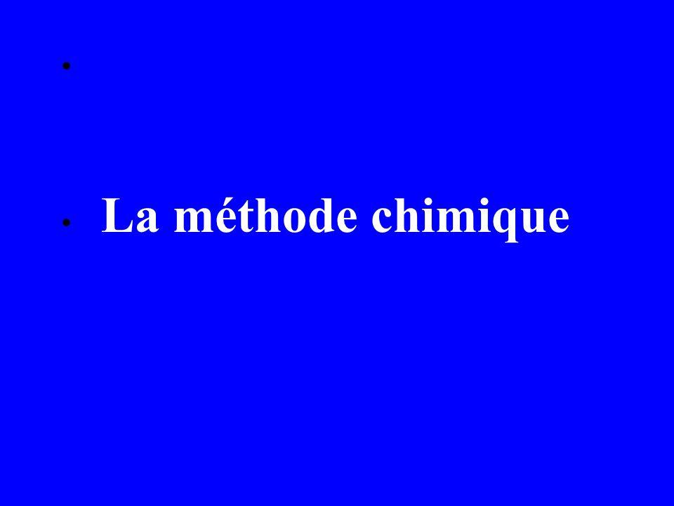 La méthode chimique