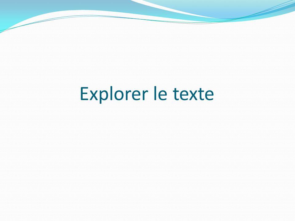Explorer le texte