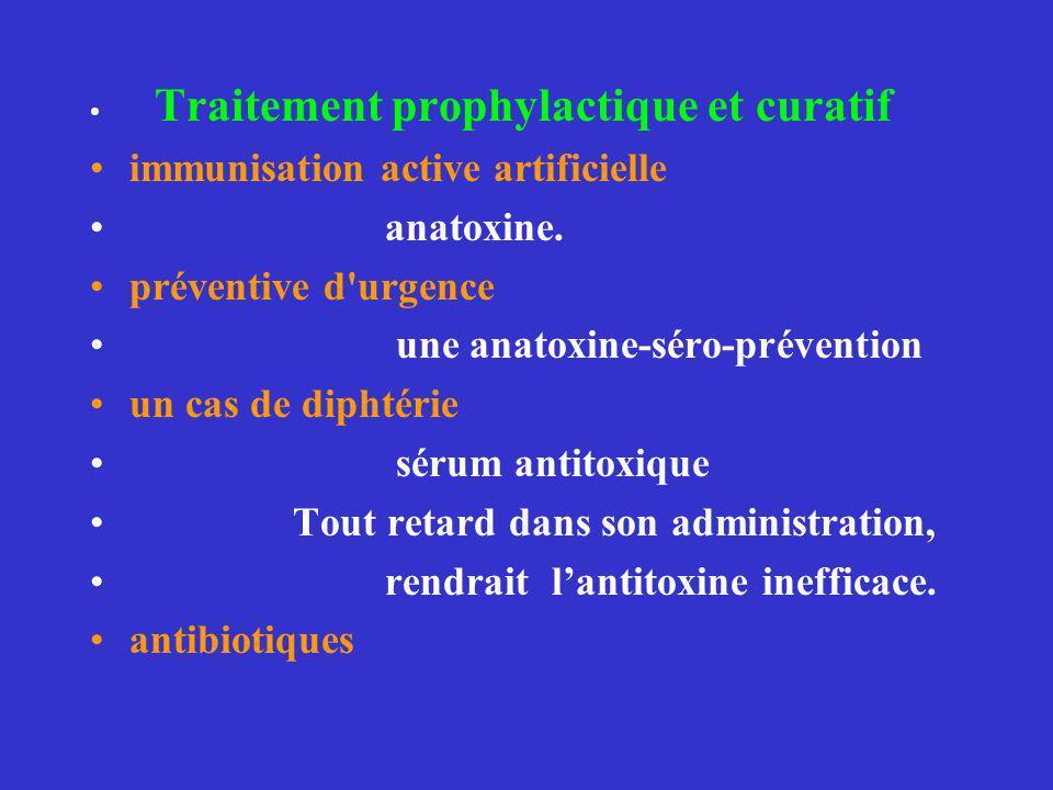 immunisation active artificielle anatoxine. préventive d urgence
