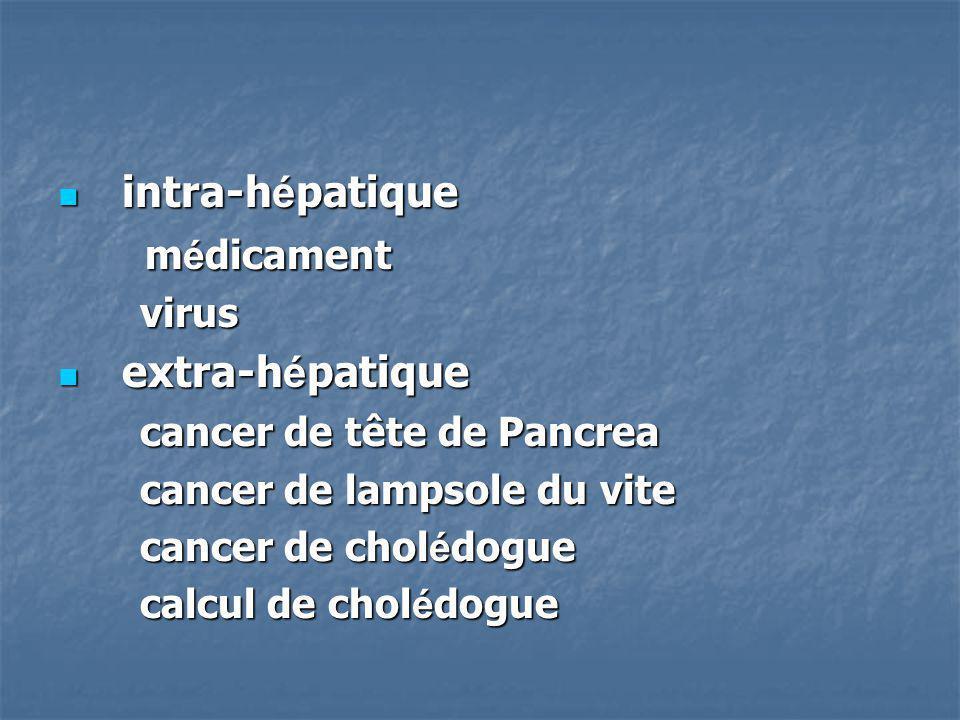 intra-hépatique médicament extra-hépatique virus
