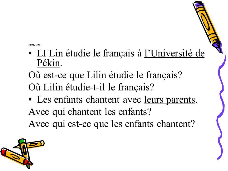 LI Lin étudie le français à l'Université de Pékin.