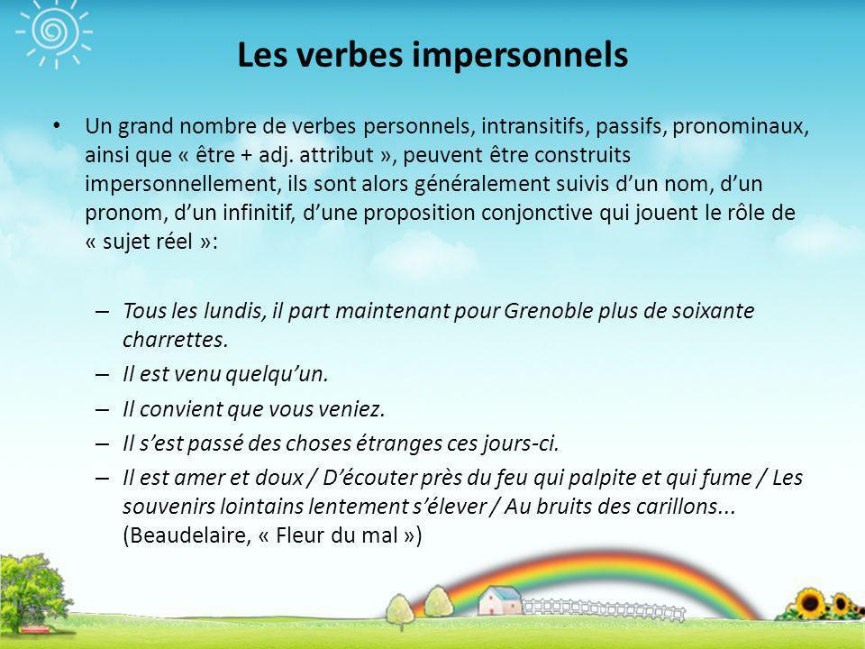 Les verbes impersonnels