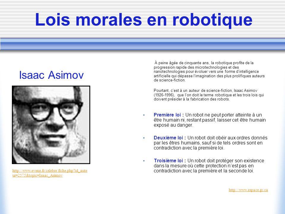 Lois morales en robotique