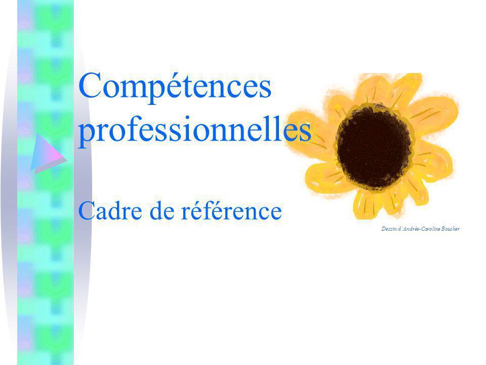 Compétences professionnelles Cadre de référence