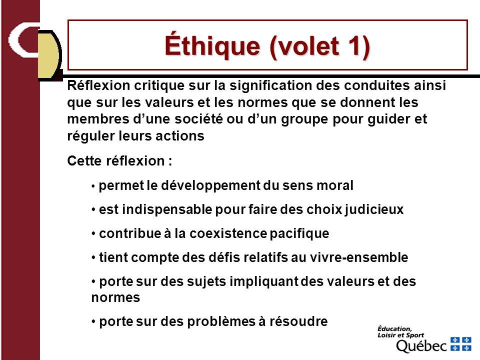 Éthique (volet 1)