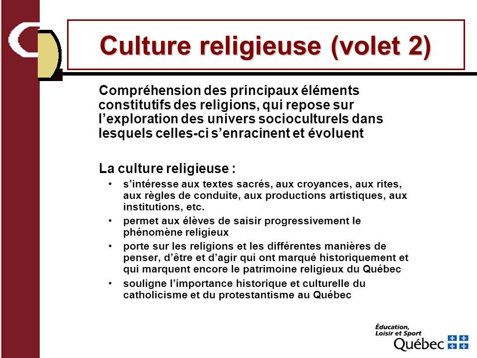 Culture religieuse (volet 2)