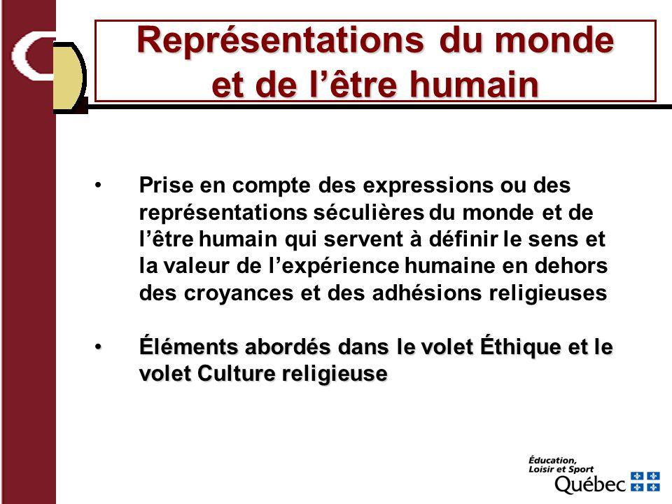 Représentations du monde et de l'être humain
