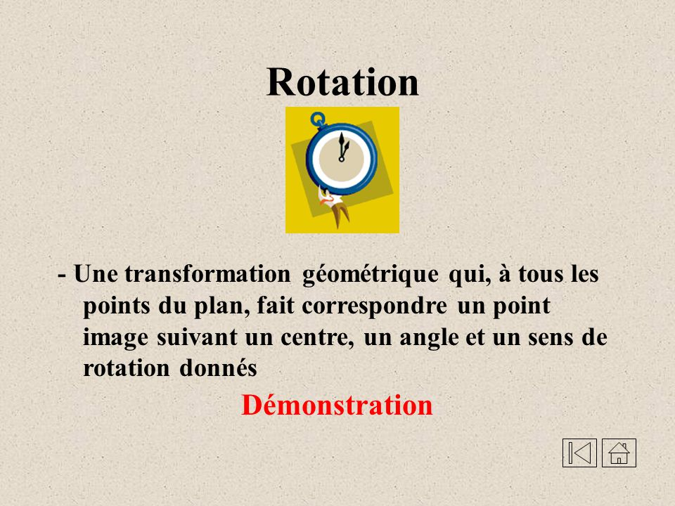 Rotation Démonstration