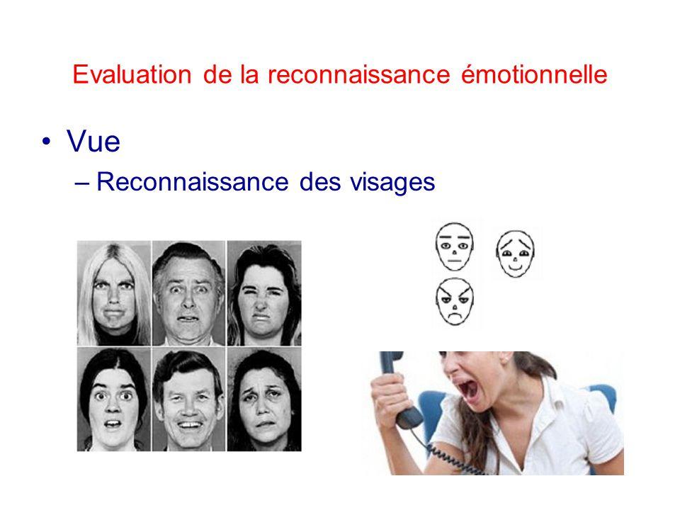 Evaluation de la reconnaissance émotionnelle