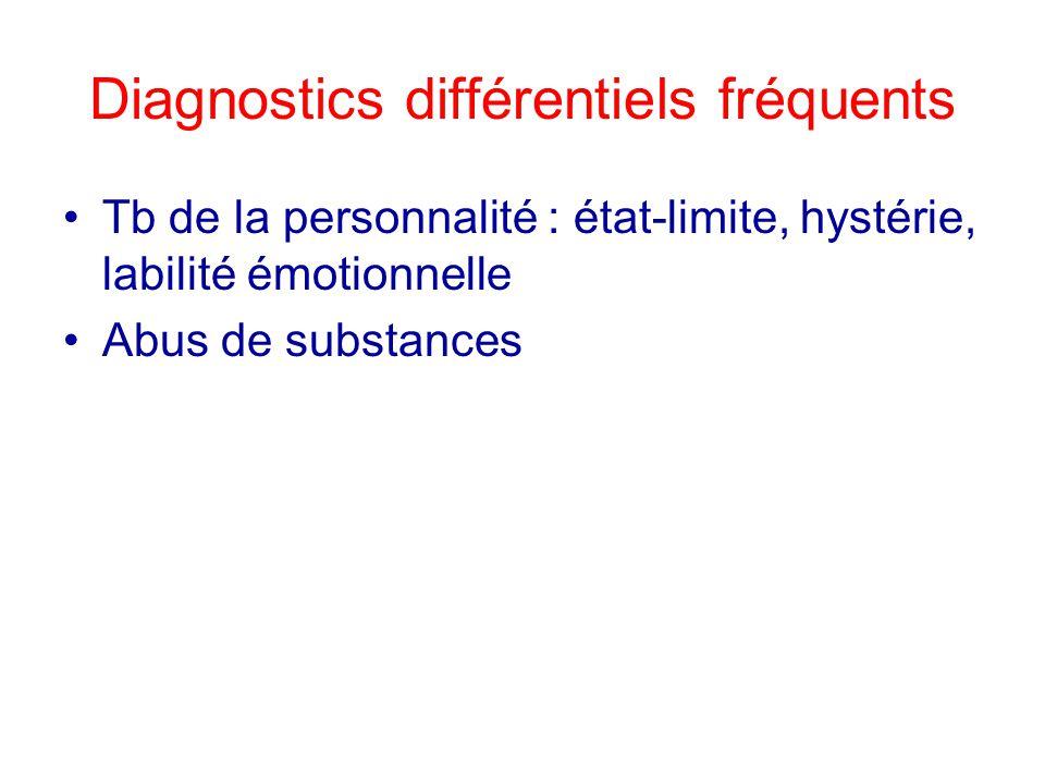 Diagnostics différentiels fréquents