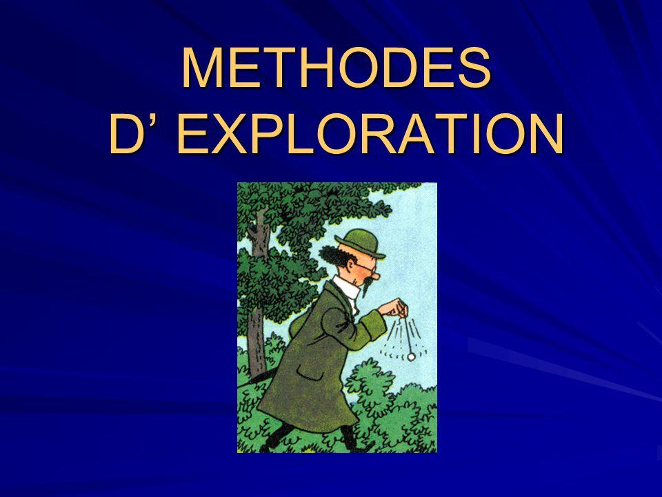 METHODES D' EXPLORATION