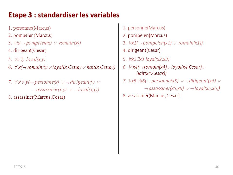 Etape 3 : standardiser les variables