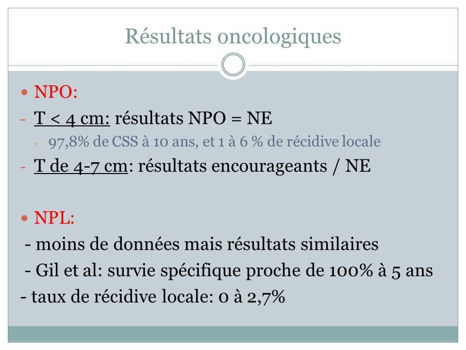 Résultats oncologiques