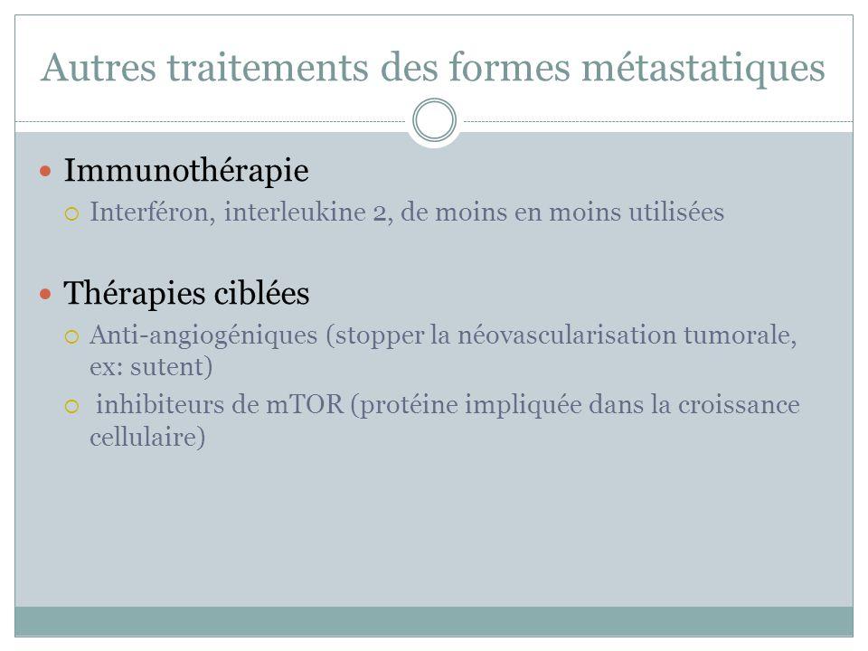 Autres traitements des formes métastatiques