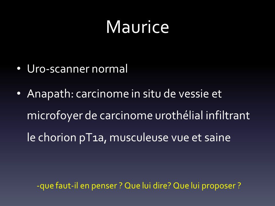 Maurice Uro-scanner normal