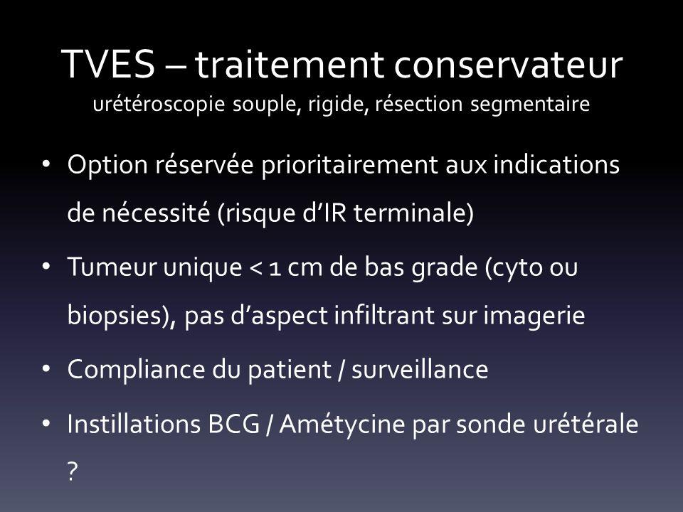 TVES – traitement conservateur urétéroscopie souple, rigide, résection segmentaire