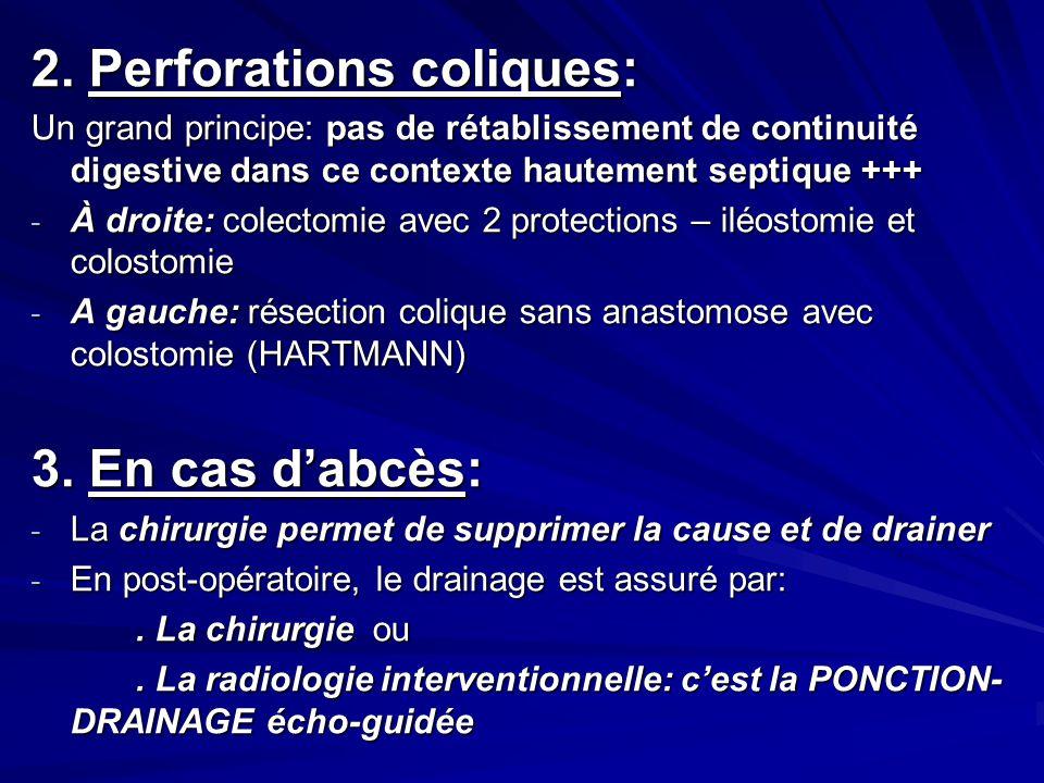 2. Perforations coliques: