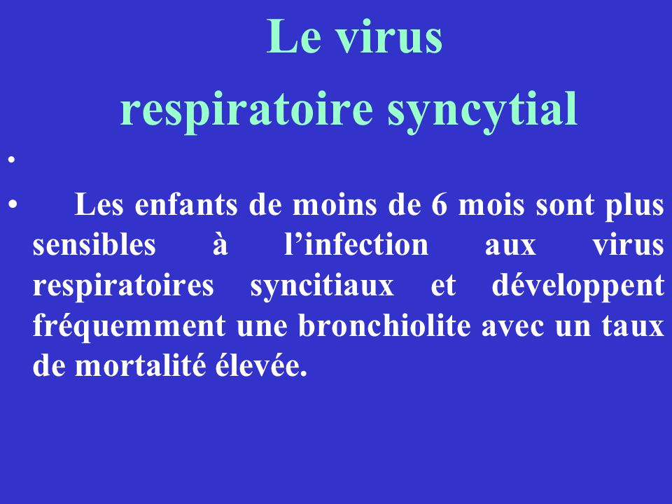 respiratoire syncytial