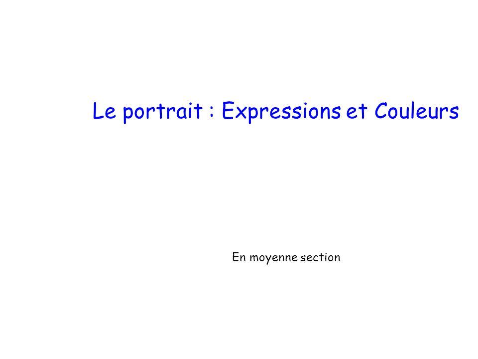 Le portrait : Expressions et Couleurs
