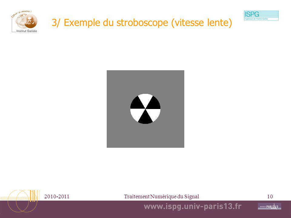 3/ Exemple du stroboscope (vitesse lente)