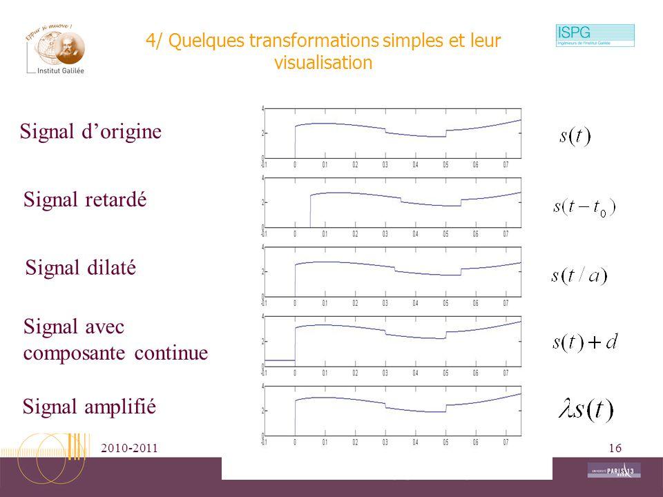 4/ Quelques transformations simples et leur visualisation