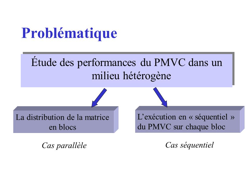 Problématique Étude des performances du PMVC dans un milieu hétérogène