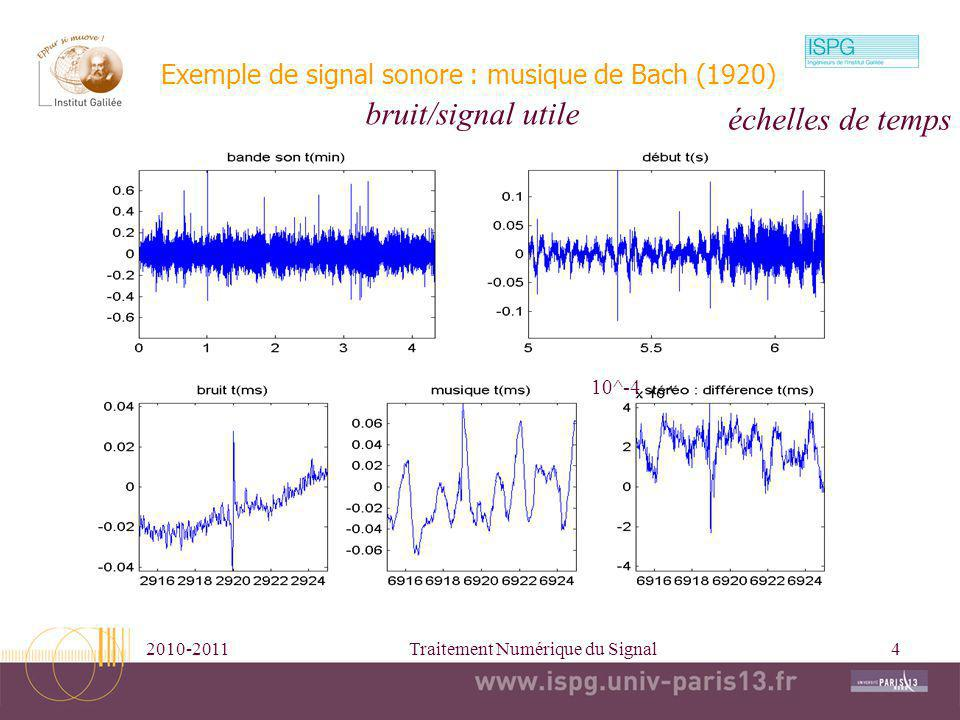 Exemple de signal sonore : musique de Bach (1920)