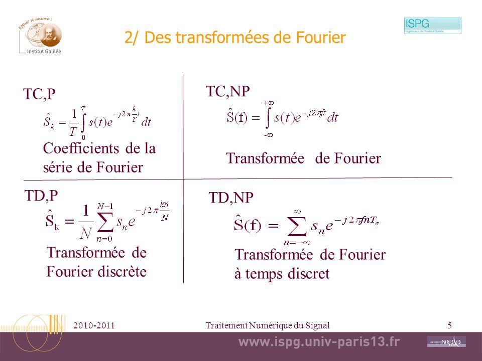 2/ Des transformées de Fourier