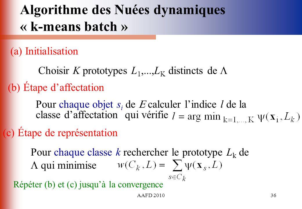 Algorithme des Nuées dynamiques « k-means batch »