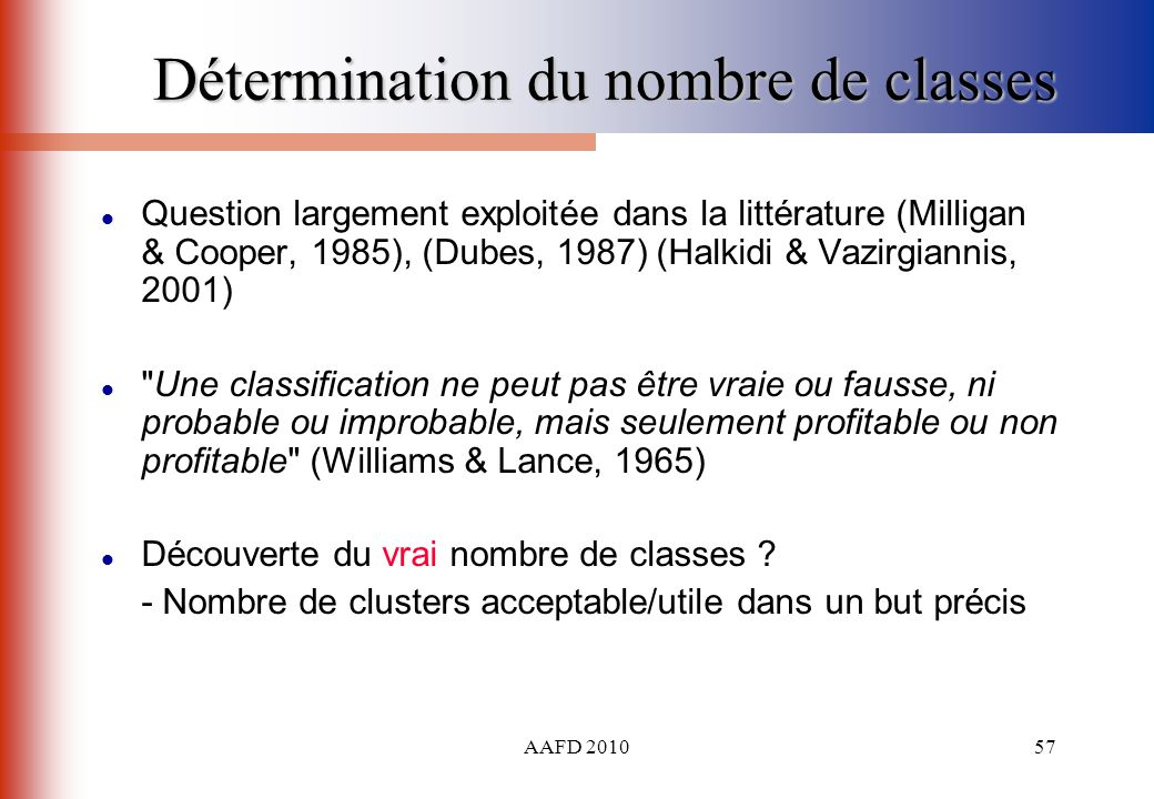 Détermination du nombre de classes
