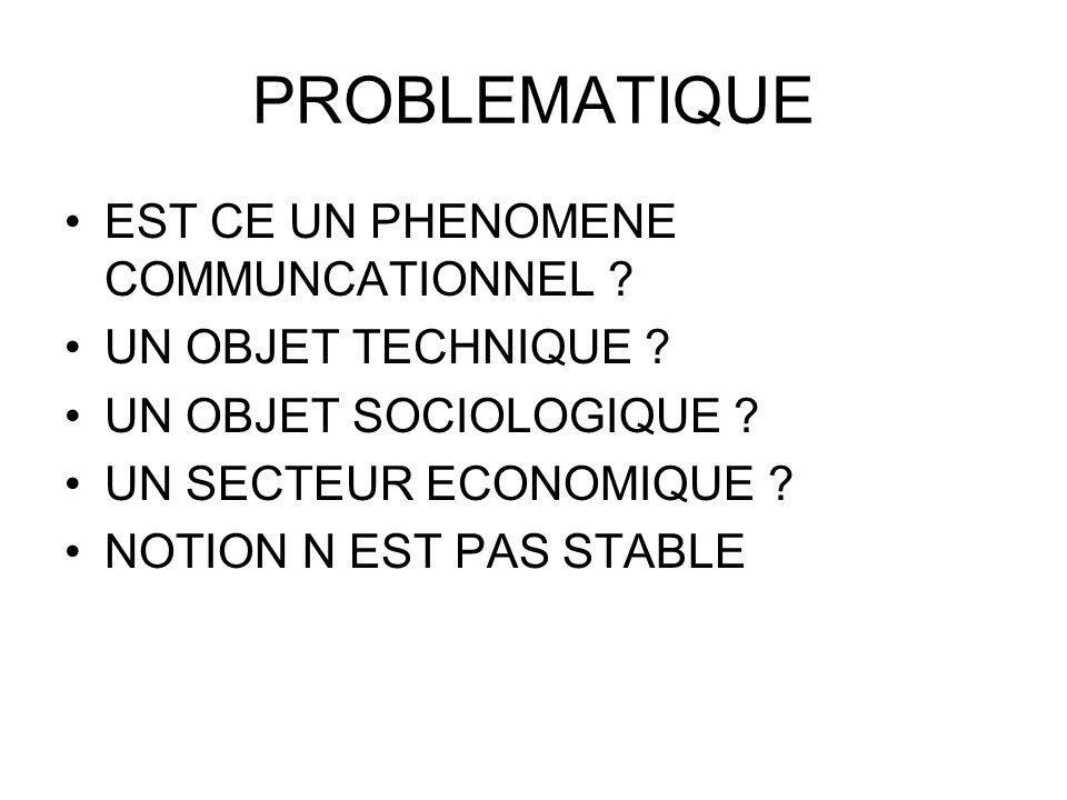 PROBLEMATIQUE EST CE UN PHENOMENE COMMUNCATIONNEL
