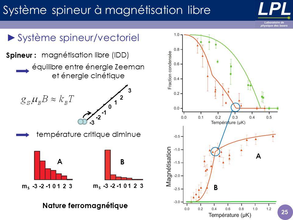 Système spineur à magnétisation libre