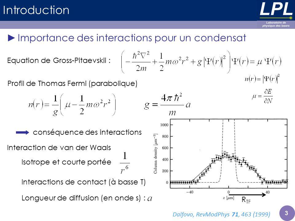 Profil de Thomas Fermi (parabolique)