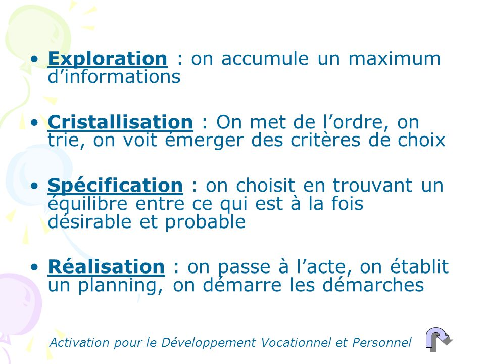 Exploration : on accumule un maximum d'informations